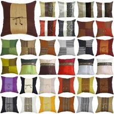 Silk Blend Geometric Pillow Cases