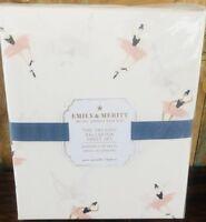 Pottery Barn Kids Emily & Meritt Full Ballerina Sheet Set Organic New Swan Pink