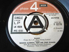 """RONNIE ALDRICH and his Two Pianos-Sunny 7"""" vinyle DEMO"""