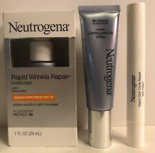 Neutrogena Rapid Wrinkle Serum, Moisturizer & Dark Circle Repair Eye Cream  3pk