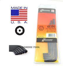 Bondhus Tamper Resistant Security Hex L Wrench Set Metric 2.5-8 USA MADE 48386