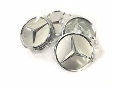 Radnabenabdeckungen (4 Stück) Mercedes Benz Chromstern, titansilber