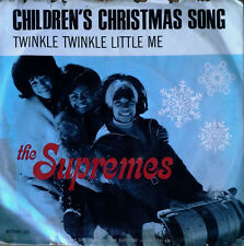 SUPREMES - CHILDREN'S XMAS SONG b/w TWINKLE TWINKLE - MOTOWN - PIC. SLEEVE + 45