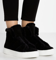 DKNY Donna Karan Mason Fur Shearling Shoes Boots Shoes Sneakers Trainers