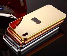 Luxus Mode Aluminium Metall Spiegel Bumper Case Cover Schutz Hülle Tasche Etui