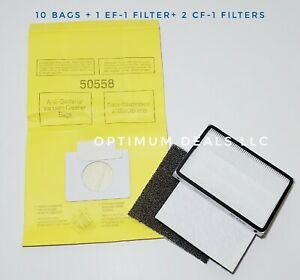 10 Bags for Kenmore Progressive Canister Vacuum Cleaner 5055  EF1 CF1 Filter Set
