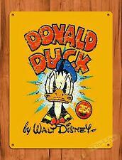 """TIN-UPS Tin Sign """"Disney's Donald Duck 25 Cents"""" Comic Book Ride Art Poster"""