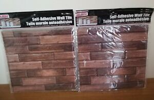 LOT of 5 Sheets Tool Bench Hardware Self Adhesive Brown Wall Tile,not Tile
