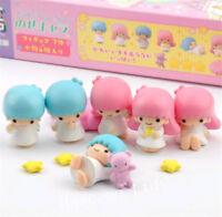 Sanrio Little Twin Stars Resin Mini Figure Model 7PCS Doll Toys