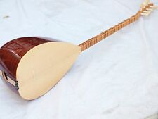 TURKISH MAHOGANY LONG NECK SAZ BAGLAMA  With FREE CASE