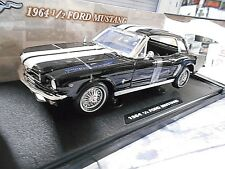 Ford Mustang MKI PONY CAR 1/2 1964 Noir Black RIGIDE S-PRIX MOTORMAX 1:18