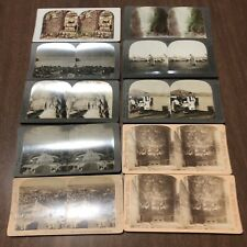Vintage Stereoview Card Lot of 10 - Italy Rome St Peters Switzerland Hungary