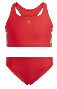Adidas Fille Sport-Bikini 3-Streifen Bikini Rouge Blanc