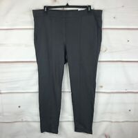 Style & Co Plus Size Mid Rise Comfort Waist Womens 20W Gray Legging Pant Stretch