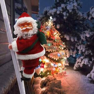 New Santa Claus Electric Climb Ladder Hanging Decoration Christmas Tree
