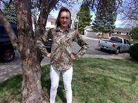 Cablela's long sleeve hunting or fishing shirt, size 14