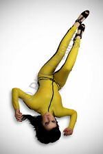 Medium Kill Bill 100% Latex Rubber Catsuit Second Skin Stunning Body Suit
