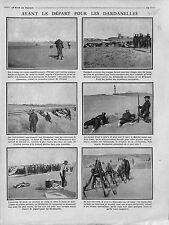Poilus Corps Expéditinnaire d'Orient Bataille des Dardanelles Siouff 1915 WWI
