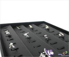 Vorlagebrett Schmucklade schräg mit 40 Klammer Kunstleder schwarz
