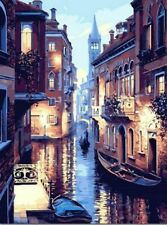 Classical Lights Of Venice Paint By Numbers Kits For Adults DIY Painting Tools