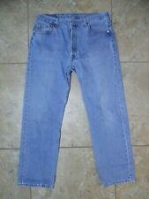 VTG Levi's Button Fly 501 Medium Wash JEANS USA Made 36x30 Measured 34x29