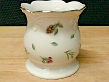 Lenox Williamsburg Boxwood & Pine Votive Or Tea Light Holder New Without Tag