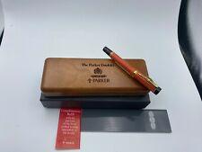 PARKER Duofold Centennial Orange SE Fountain Pen 18K Fine nib  NEW Year 1990