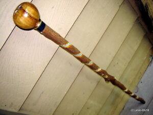 "STAR-FRUIT HANDLE SHILLELAGH spiral SASSAFRAS cane/walking-stick 36""~gift~copper"