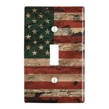 Rustic American USA Flag Distressed Wall Light Switch Plate Cover