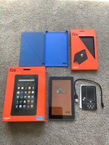 "Amazon Kindle Fire 7"" 8GB 5th Gen Tablet Blue - Excellent Condition"