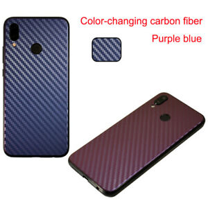 For OnePlus LG Meizu Back Cover Protector Discolor Carbon Fiber Protective Film