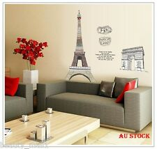 "NEW~""Paris"" Removable Family Home Decor DIY Vinyl Wall Sticker Decal Art"