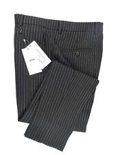 AMI Alexandre Mattiussi Black Pinstripe Trousers Size 40 RRP190 G10