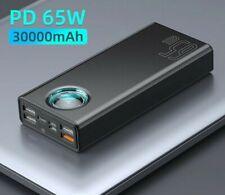 30000mAh Portable Baseus Powerbank Quick Charger External Power Bank Charging