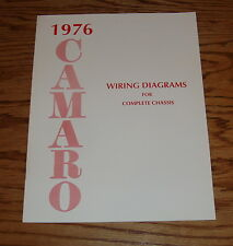 1976 Chevrolet Camaro Wiring Diagram Manual for Complete Chassis 76 Chevy