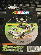 """MARK MARTIN #5 GO DADDY.COM  100 YEARS OF CHEVROLET NASCAR 3"""" ROUND DECAL"""