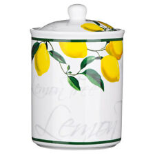Premier Lemon Tree Bone China Biscuit Cookie Sugar Jar Storage Pot with Lid
