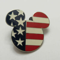 Disney American Flag Head Mickey Pin