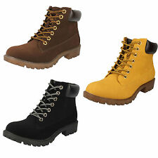 Women's Casual Suede Lace Up Ankle Boots