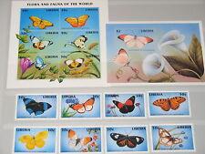 Liberia 1998 1992-11 Klb Block 172-73 Butterflies MNH