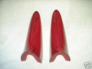 1956,1957,1958 PACKARD -CLIPPER TAIL LIGHT LENSES NEW PAIR REPRODUCTIONS