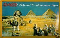 Budweiser Égypte Pancarte en Tôle Signe Métal 3D Relief Voûté Panneau Étain 20 X