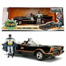 Batman 1966 TV Series Batmobile 1:24 Scale Vehicle with Figures-New Item