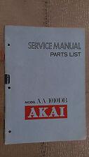 Akai aa-1010db Service Manual original factory repair book stereo receiver tuner