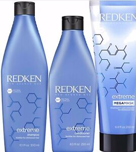 Redken Extreme Shampoo Conditioner and Mega Mask Trio Triple Pack Mega Mask