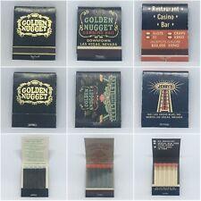 Set Of 3 Vintage Casino Matchbooks - Golden Nugget / Jerry's Nugget