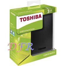 "HARD DISK ESTERNO 3TB 2,5"" TOSHIBA CANVIO BASICS USB3.0 BLACK 3000GB"