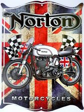 NORTON MOTORCYCLES. All Weather Metal Sign 475x360