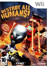 DESTROY ALL HUMANS LACHEZ LE GROS WILLY    --- NEUF  -----   pour WII