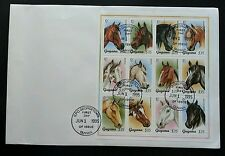 Guyana Horse 1995 Animal Pets (sheetlet FDC) *Rare *Large size